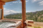 Large open kitchen with granite countertops, high end appliances, and unbeatable views