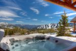 Private outdoor hot tub on the front porch - Unbeatable views