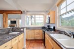 Fabulous kitchen with granite counter and awesome views
