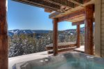 Private outdoor hot tub with spectacular views