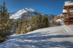 Enjoy ski-in/ski-out direct to Pony Express lift via groomed trail