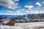 Large, comfy living room with best views in Big Sky - right on the slope.