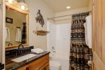Full Bathroom 2 with shower/tub combo. Located on hallway, just outside bedroom 2