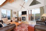 Direct views of the slopes, valley, sunset over Lone Peak. Ski from your door