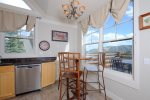 Large loaded kitchen with all appliances and cooking supplies along w/great view