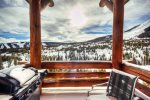 Bedroom 4 with queen bed and flat screen TV,walks out to private outdoor hot tub