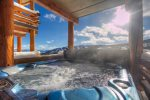 Enjoy the best view in Big Sky from our private outdoor slopeside hot tub