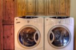 Large washer and dryer.