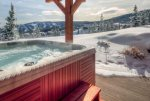 Leather Furniture, Heated Floors,Private Deck w/seating and views of the slopes