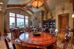 Dining Area seats 8, Large open living room, Gourmet Kitchen w/ breakfast bar.