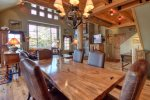 Large Dining Area Opens to Kitchen, Great Room, & Amazing Views