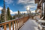Large Deck with great views, privacy, outdoor seating, private hot tub.