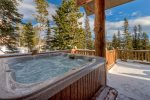 Large private deck with 8 person private hot tub and views. Enjoy Cowboy Heaven at it best
