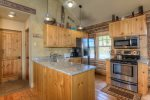 All new kitchen with granite counters, stainless steel appliances and all your cooking needs