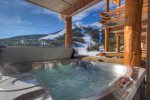 Private 6 person hot tub with breathtaking views.