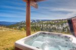 Fabulous mountain views from private outdoor hot tub