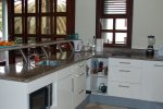 Fully equipped with stove, microwave/oven combi, dishwasher and all items you need while preparing a festive dinner.