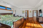Master bath with double vessel sink vanity