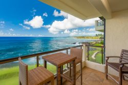 Oceanfront Deluxe 2 bedroom, 2 bathroom condo, Full AC at Poipu Shores Resort