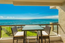 Dramatic ambience and Upgraded Oceanfront 2BR Poipu Shores 206A Air Conditioned!