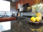 Glass tile and granite