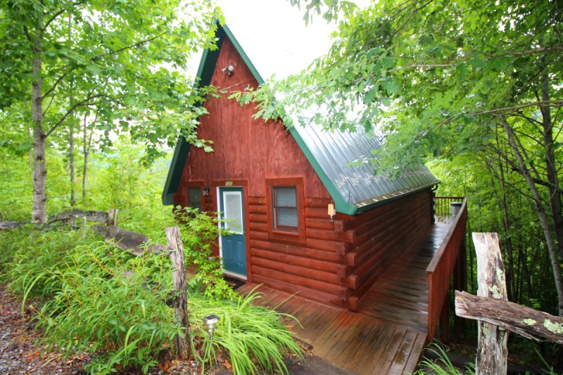 Strange One Bedroom Log Cabin In Great Smoky Mountains In Bryson Interior Design Ideas Pimpapslepicentreinfo