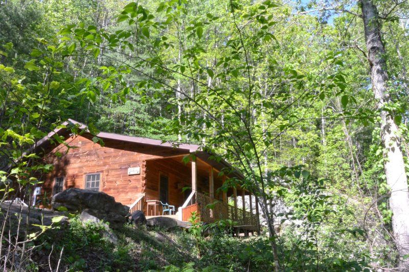 Three bedroom secluded log cabin near bryson city nc for 8 bedroom cabins in north carolina