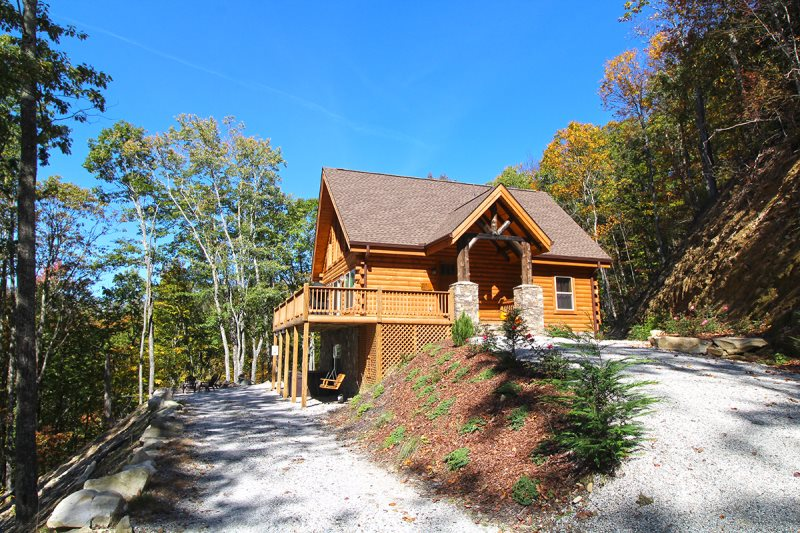 Secluded Luxury Log Cabin Rental With Long Range Views Of