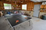 Ping Pong in the garage for all to enjoy