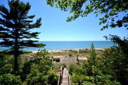 Private Lake Michigan Beach Frontage