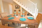 Beautiful table for family meals or game night