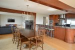 Enjoy family meals or a game night at this large dining room table