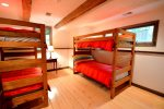 The kids will love the bunk beds in this room