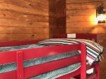 Two sets of twin bunk beds in Bedroom 3