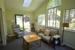 Lots of natural light in the sunroom
