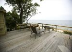 Enjoy Lake Michigan while relaxing on the deck