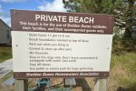 Shared private beach entrance