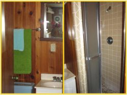 Sea Star - 1st Level - Game Room Bathroom with Walk-in Shower
