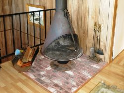 Sea Star - 2nd Level - Living Room, Wood Burning Stove