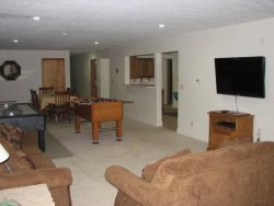 Pacific Villa - Lower Level - Living Room with 2 sofa sleepers, large flat screen TV