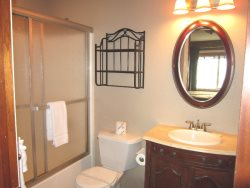 Oceanfront Oasis - Main Level - Master Bath With Tub and Shower