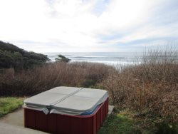 Oceanfront Oasis - Hot Tub and View