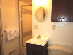 Oceanfront Oasis - Lower Level - Bathroom 3 With Walk-in Shower