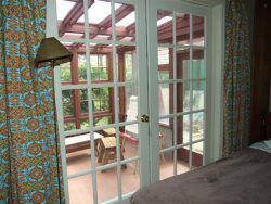 Jumping Scallops - French doors to enclosed porch