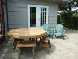 Jumping Scallops - Back Yard Table and Sitting Area