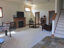 Ocean Sapphire - 1st Level - Living Room - Fireplace  Flat Screen TV - Foosball Table is Removed