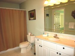 Ocean Breeze - Upper Level Bathroom, access from Hallway and 3rd Bedroom