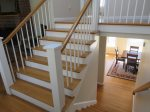 Stairway to Family Room and Bedrooms