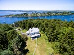 Aerial View of Mackerel Cove and Casco Bay