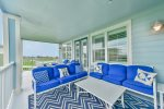 Great Balcony Furniture with Plenty of Seating to Relax & Enjoy the Beach View